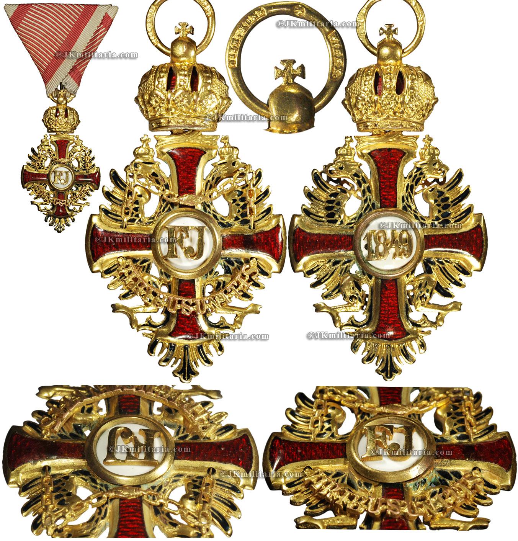 Order Of Franz Joseph 3rd Class On War Ribbon