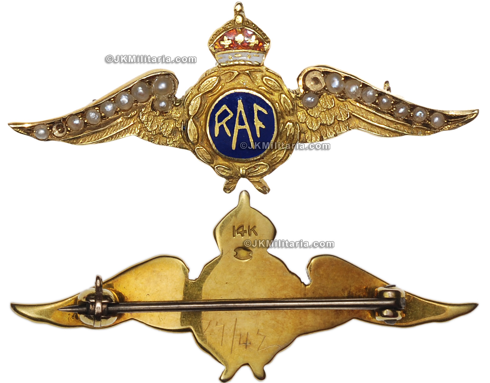JK Militaria offering sweetheart pins, militaria, orders